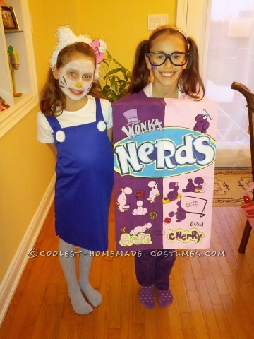 Nerds Box and Hello Kitty DIY Costumes for Girls
