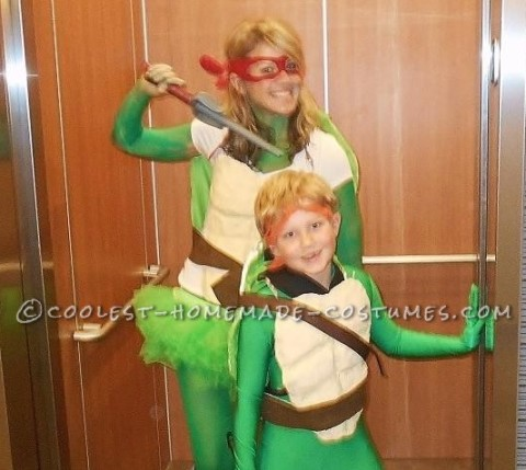 Coolest Mom And Son Ninja Turtles Costumes