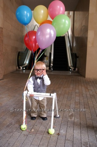 """Cute and Easy """"Up"""" Costume for a Toddler"""