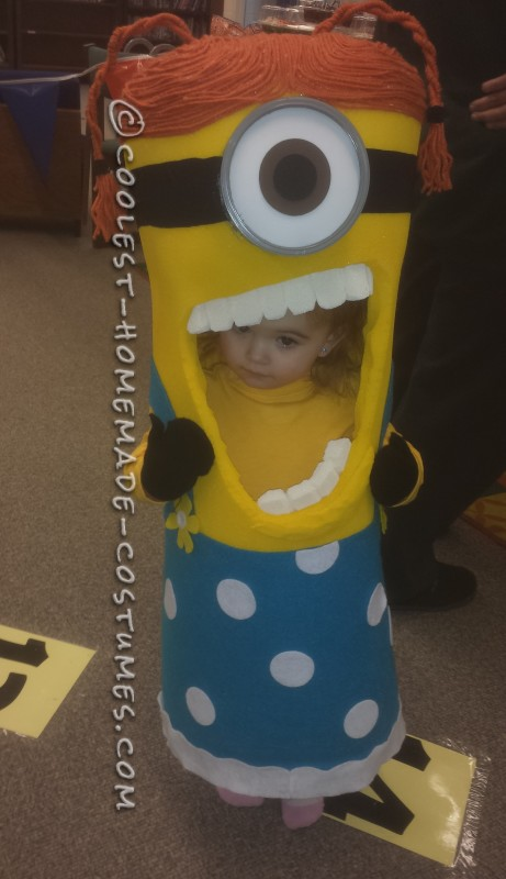 Perfect Sized Homemade Toddler Minion Costume