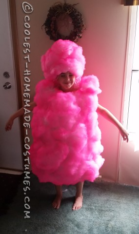 Cool Pink Cotton Candy Costume for a Girl