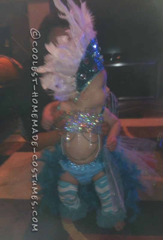 Pint-Sized Las Vegas Show Girl Costume for a Baby - 1