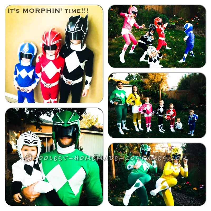 Coolest Power Rangers Costumes for a Family Halloween Costume