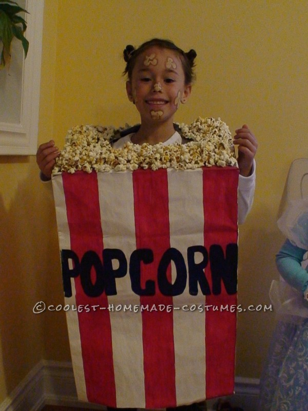 Cool Popcorn Bag Costume for a Girl