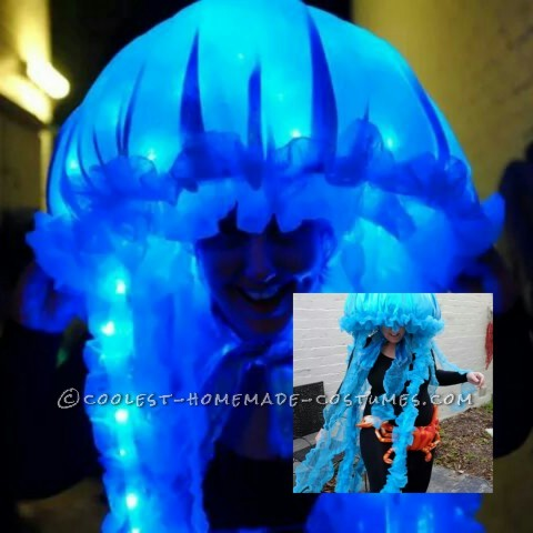 Glowing Portuguese Woman-o-War Jellyfish Costume