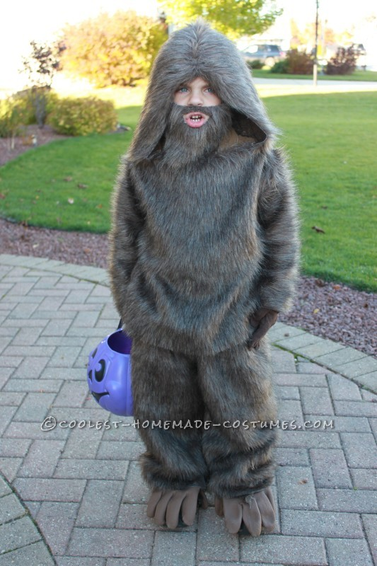 Quick and Easy Kids Bigfoot Costume