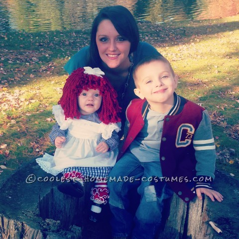 Adorable Raggedy (Adie) Ann Costume for a Baby