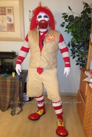 Raging Ronald McDonald Costume