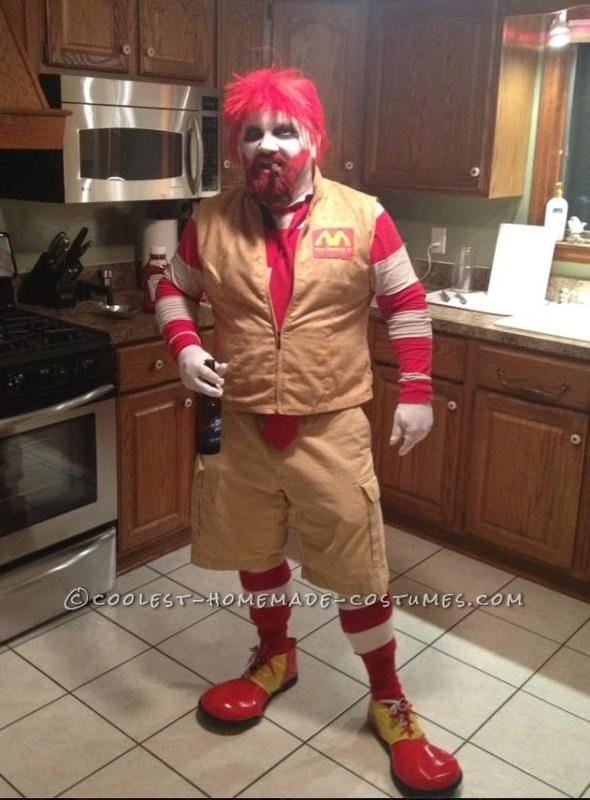 Raging Ronald McDonald Costume - 1
