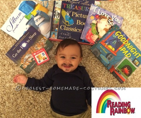 Cute Reading Rainbow Costume for a Baby