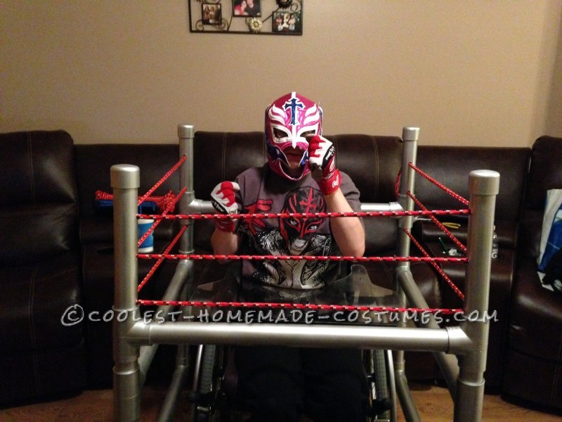 Wrestling Rink Wheelchair Costume - 1