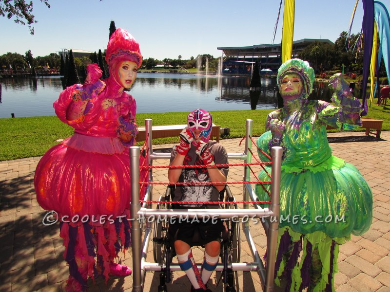 Wrestling Rink Wheelchair Costume - 5