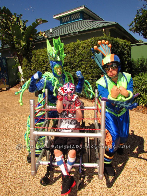 Wrestling Rink Wheelchair Costume - 6