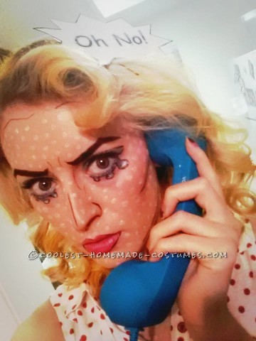 Wow! Roy Lichtenstein Comic Pop Art Costume