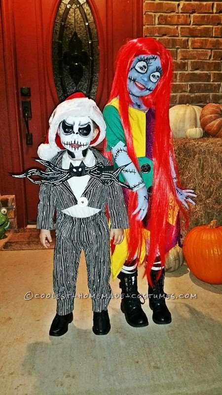 Cool Sally and Jack Skellington Child's Couple Costume
