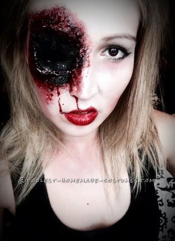 Grotesque Shot Gun Sally Makeup for Halloween
