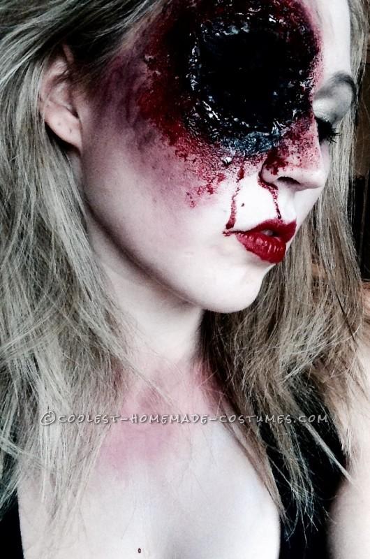 Grotesque Shot Gun Sally Makeup for Halloween - 2