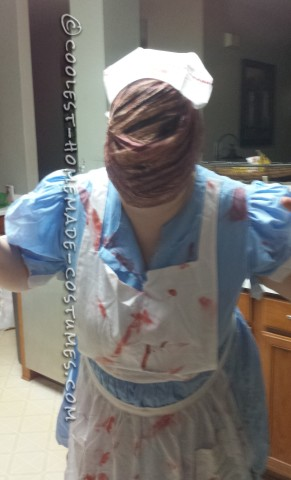 Creepy Homemade Silent Hill Nurse Costume
