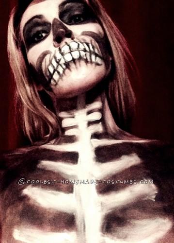 Creepy Skeletina Costume and Makeup