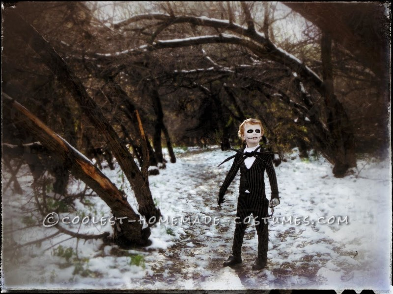 Amazing Jack Skellington Costume for a Boy