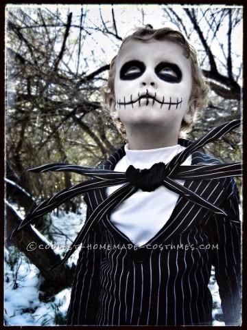 Amazing Jack Skellington Costume for a Boy