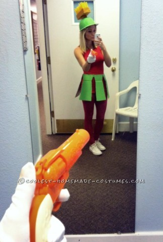 Cute Homemade Marvin the Martian Costume for a Woman