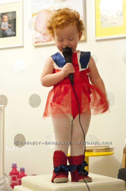 Cute Ginger Spice Toddler Costume - 3