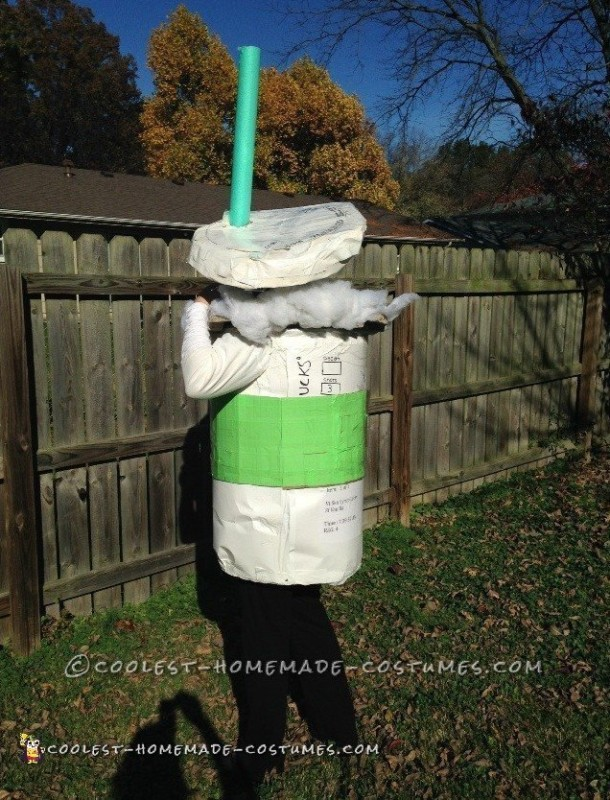 No-Sew Starbucks Latte Costume - 1