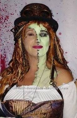 Cool Steampunk Zombie Woman Costume