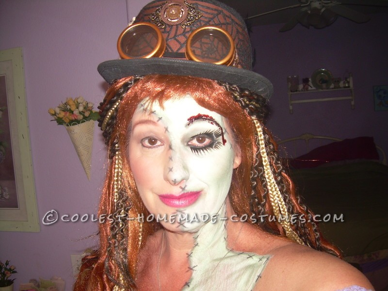 Cool Steampunk Zombie Woman Costume - 1