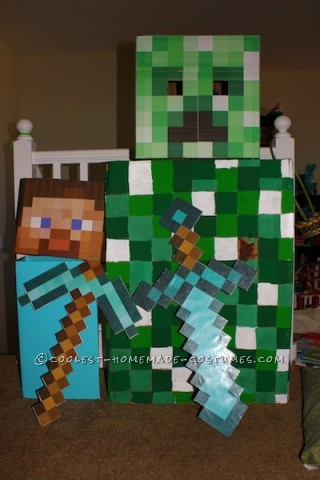Steve from Minecraft Halloween Costume
