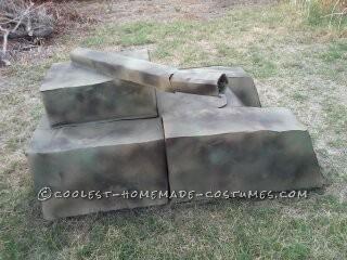 spray painted camo