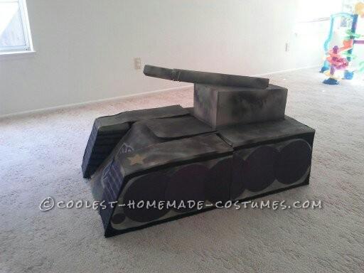 Super Awesome Homemade Transforming Transformer Tank Costume