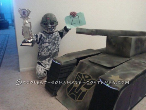 Super Awesome Homemade Transforming Transformer Tank Costume