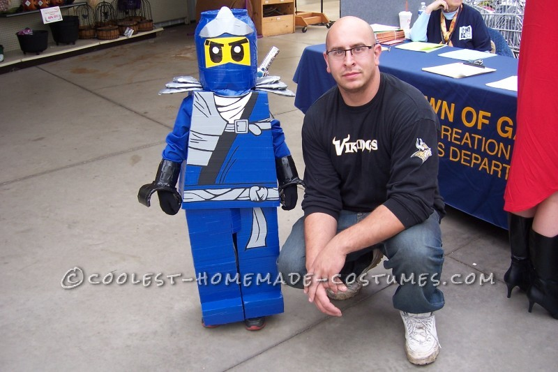 Super Easy Lego Ninjago Jay Costume