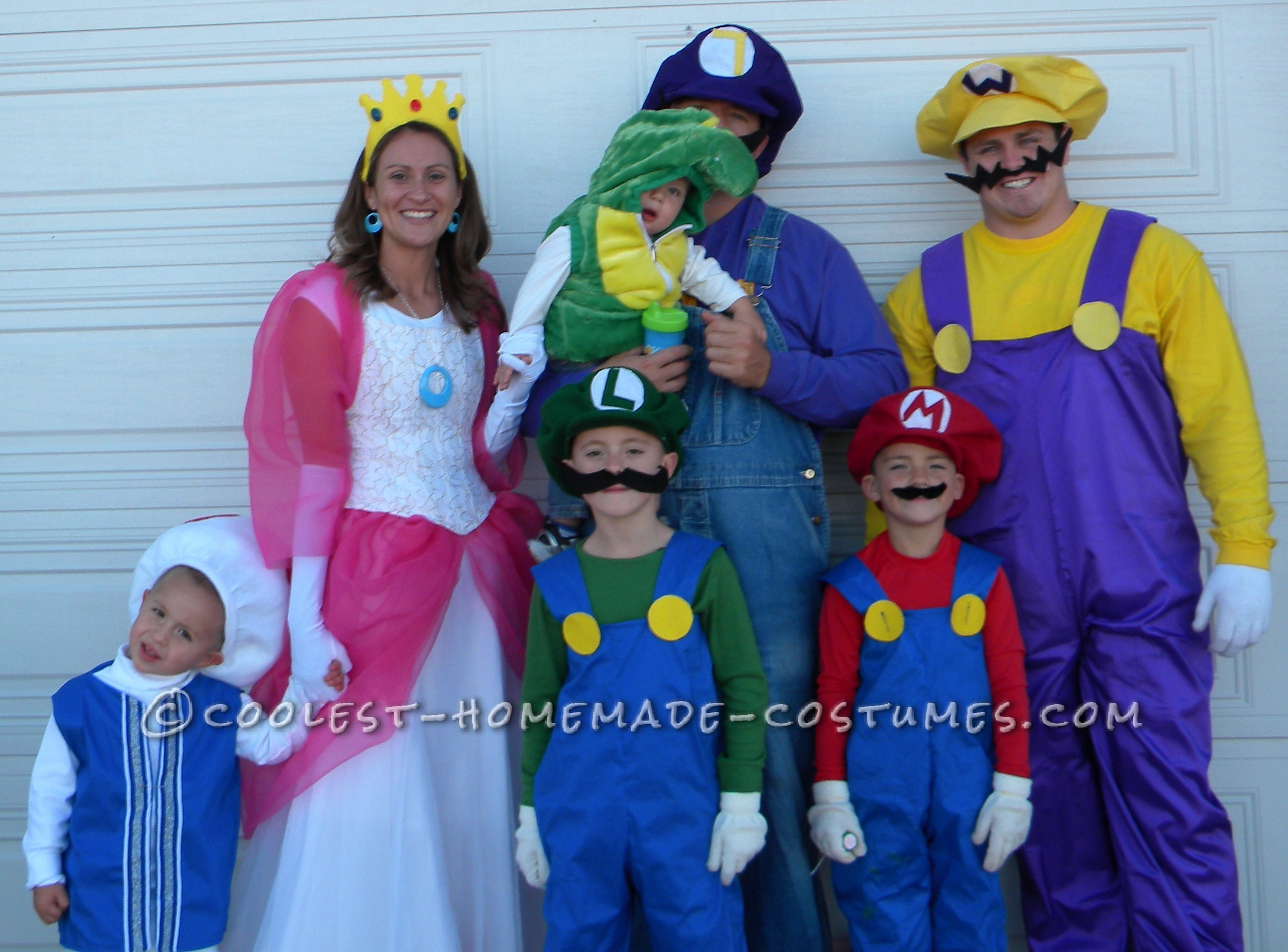 coolest super mario family theme costumes