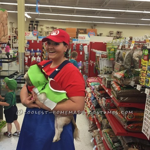 Mom, Child and Dog Super Mario Bros. Costumes