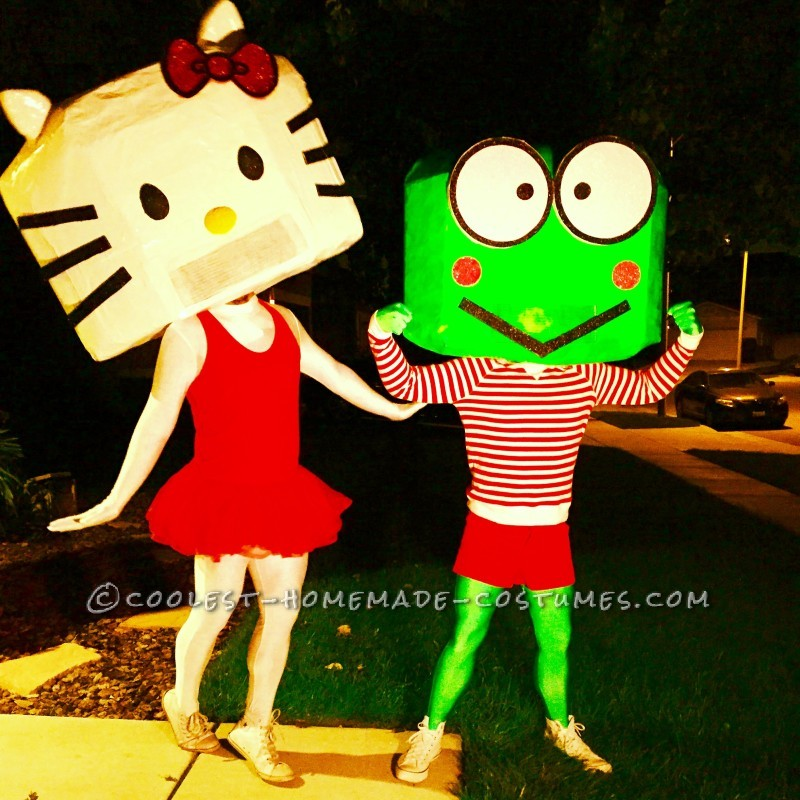 The Adventures of Kitty and Keroppi Couple Costume