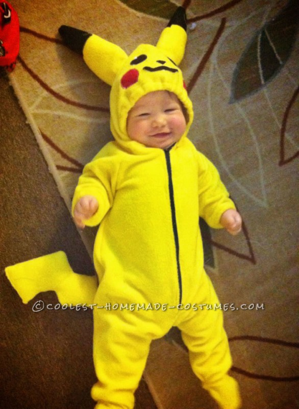 Adorable Pikachu Baby and Ash Mom Costume - 1
