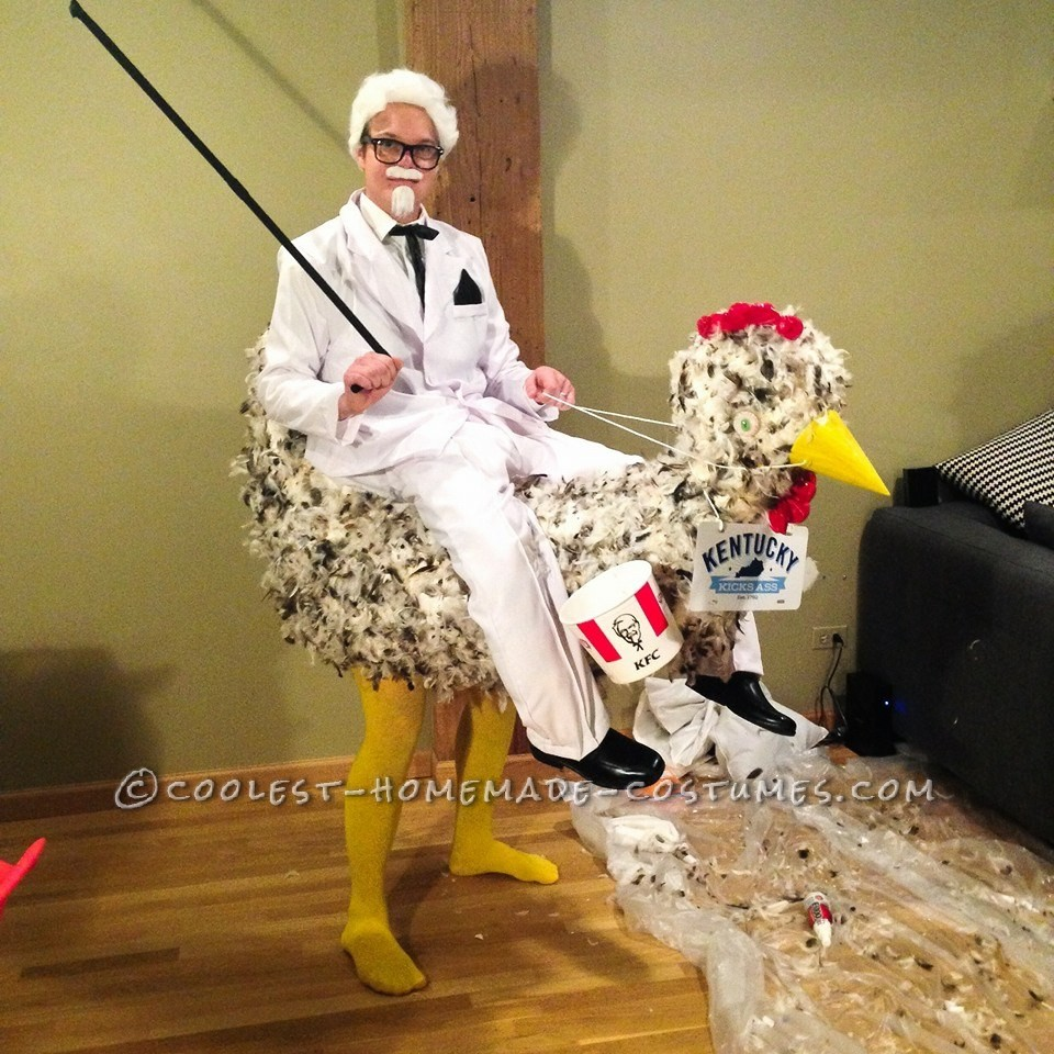 Cool Illusion Costume: The KFC Colonel Goes to the Races