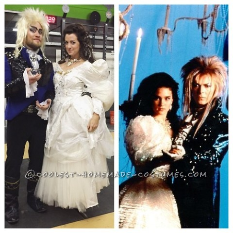 Thrifted and Homemade Labyrinth Couples Costume