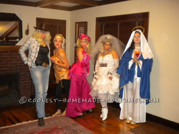 Coolest All-Girls Group Costume Idea: The Madonnas!