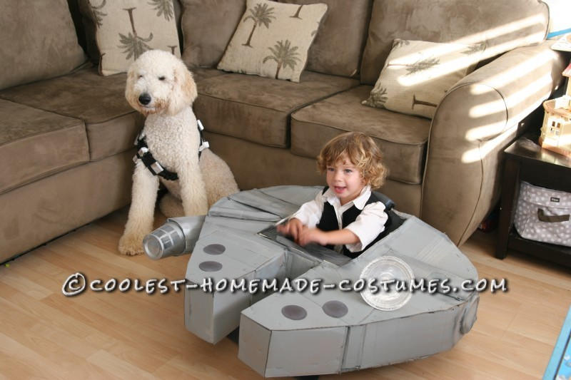 Cool Han Solo Costume, His Ship and His Wookie