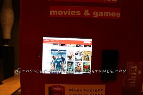 Cool Homemade Redbox Costume for a Boy