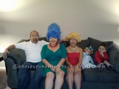 Cool Homemade Simpsons Family Costume