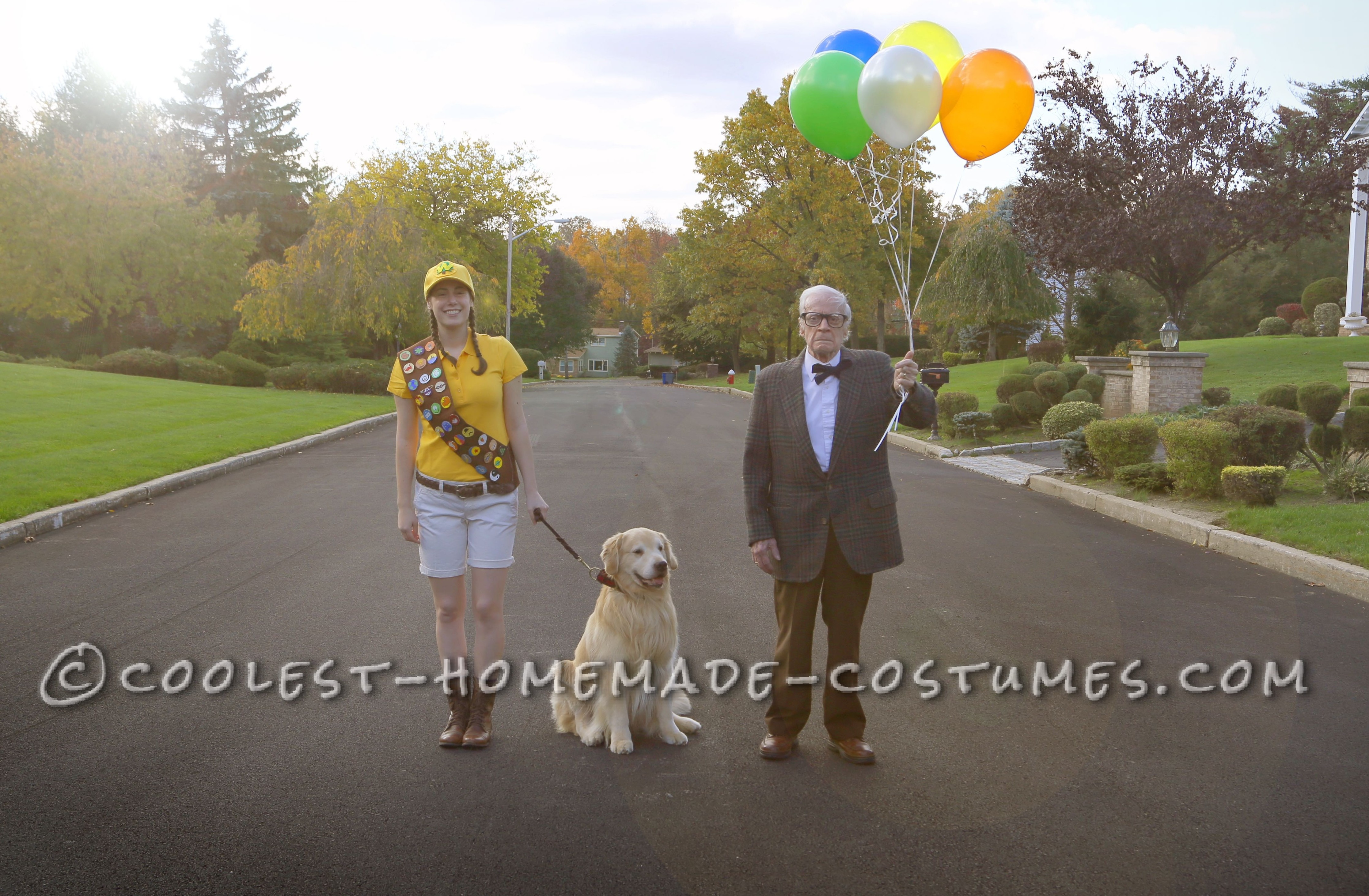 Bonding with Grandpa: Homemade Up Couple Costume