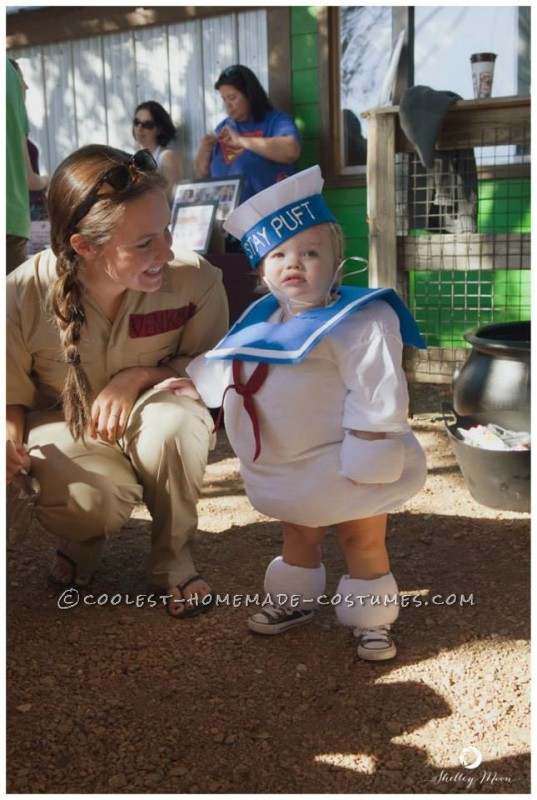 No Sew Toddler Stay Puft Marshmallow Man Costume