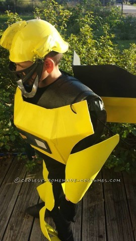 Cool Transformers Bumblebee Costume for a Boy