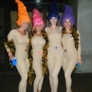 Sexy Treasure Trolls Girls Group Costume