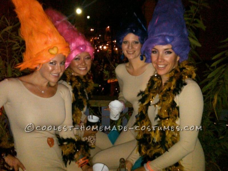Sexy Treasure Trolls Girls Group Costume - 1
